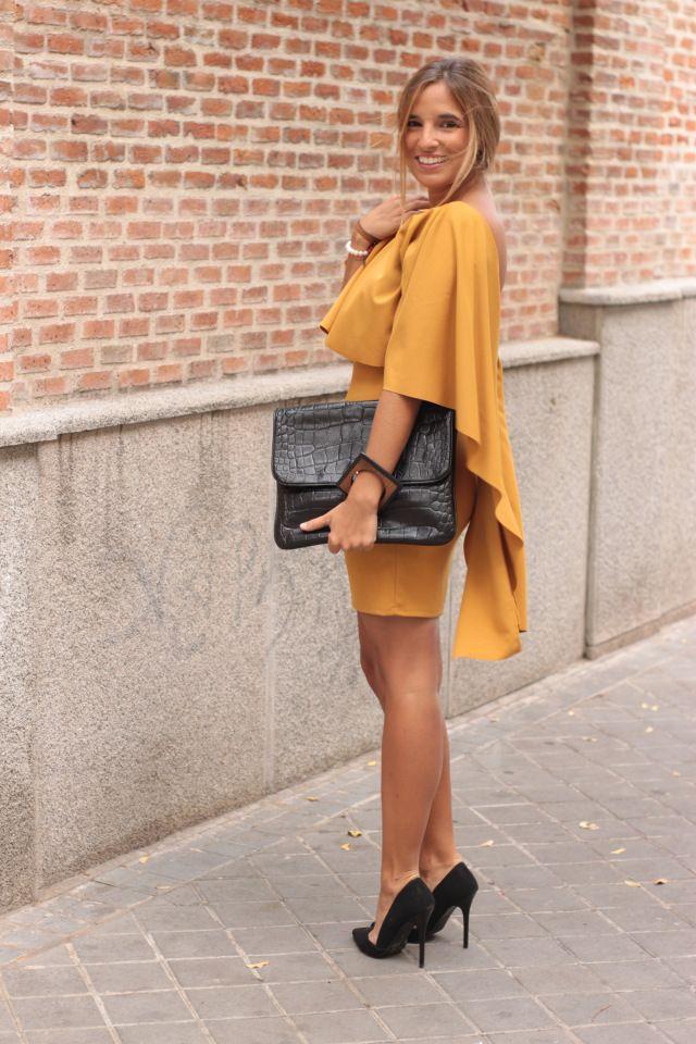 Vestido mostaza barato