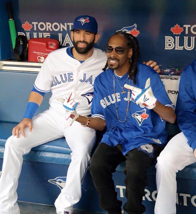 Jose Bautista and Snoop Dogg