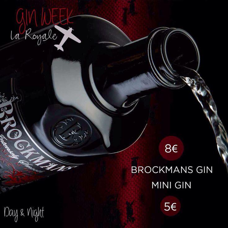 """Esta semana en La Royale celebramos la """"Gin Week"""" de la mano de Brockmans Gin. Una semana en la que podrás disfrutar de nuestros Gin Tonics Premium de Brockmans a 8€ y mini Gin Tonics a 5€.    #LaRoyale #PacoPérez #Barcelona #GinWeek #Brockmans"""