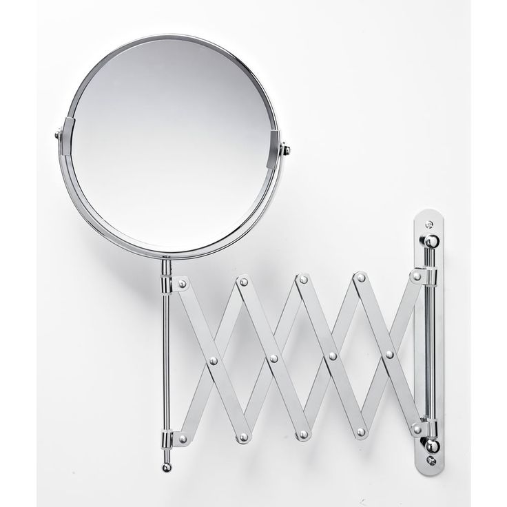 Wilko Shaving Mirror with Extendable Arm 2 Way Chrome Plated