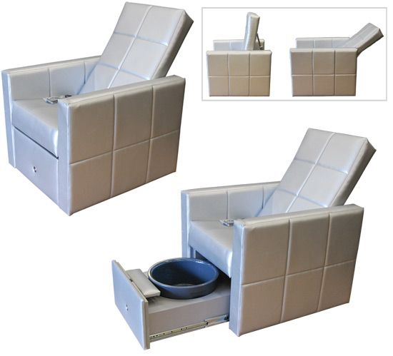 H2O Luxe Lounge Pedicure Spa Chair Carry Basins