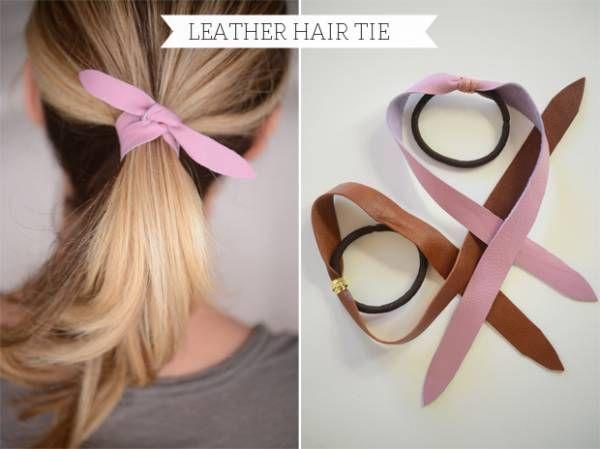 elastique cheveux cuir DIY : un lien de cuir pour attacher ses cheveux