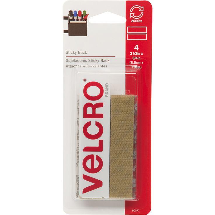 "VELCRO(R) Brand STICKY BACK Tape 3/4""""X3-1/2"""" 4/Pkg-Beige"