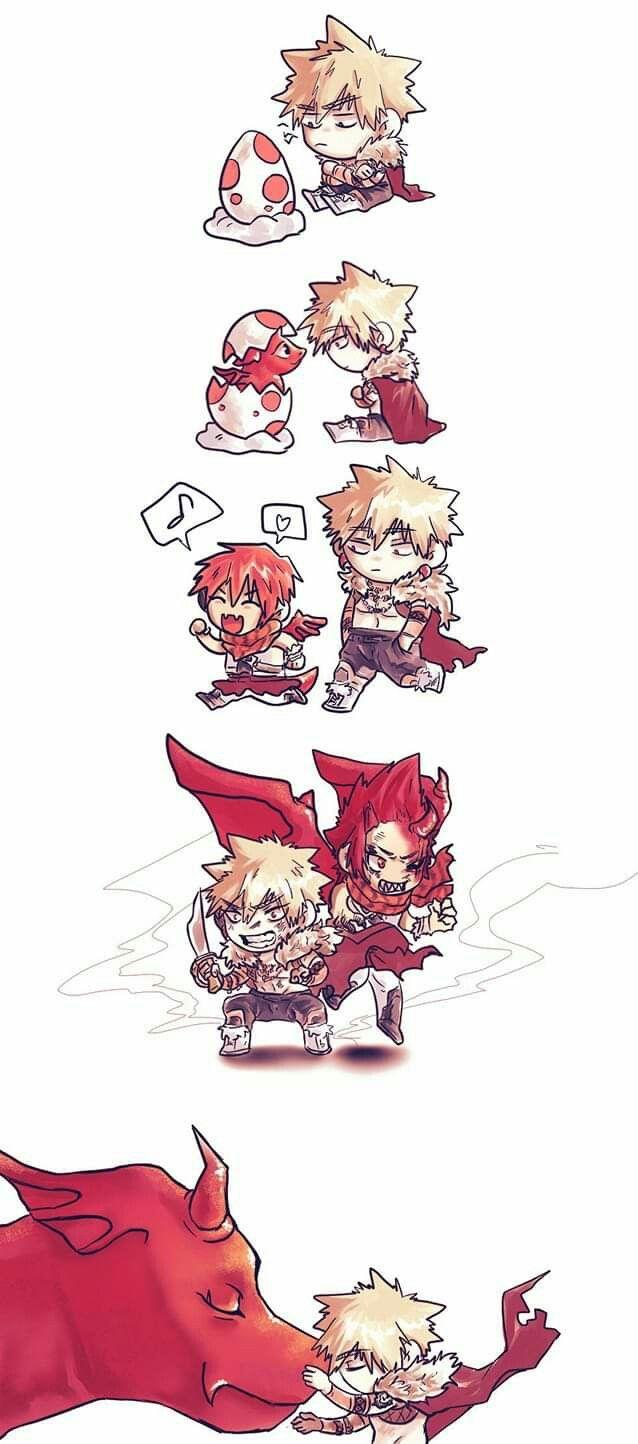 Bakugo And Dragon Kirishima My Hero Hero Hero Academia Characters
