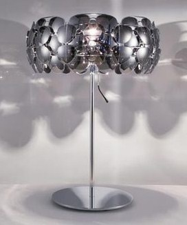 Gorgeous, modern lamp made from recycled sunglasses