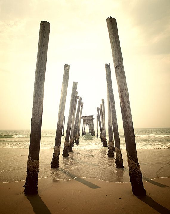 Beach photography abandoned pier by Carl Christensen