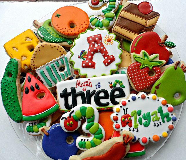 Hungry Caterpillar 3rd Birthday by Vicki's Sweets, via Flickr