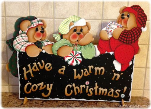 HP osos de peluche tienen un estante de Navidad N Cálido Acogedor Sitter
