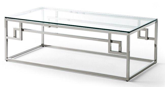 Table Basse Rectangulaire Verre Trempe Et Pieds Acier Jena Lestendances Fr Table Basse Rectangulaire Table Basse Table Basse Verre