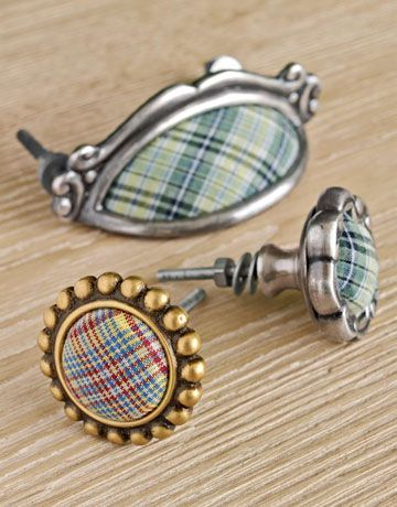 Plaid Accessories - Plaid Furniture - Country Living. Anthropologie drawer pulls