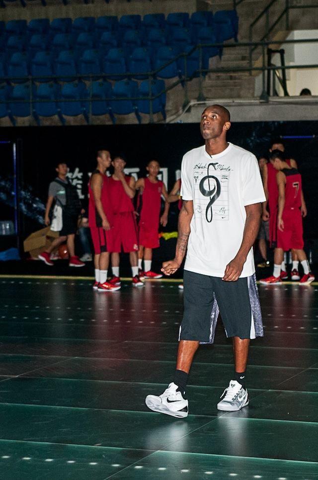 #KobeBryant wearing #Nike Kobe 9 Elite Low Beethoven