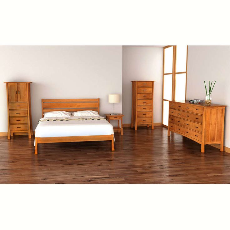 craftsman platform bed vermont woods studio solid wood - Solid Wood Platform Bed