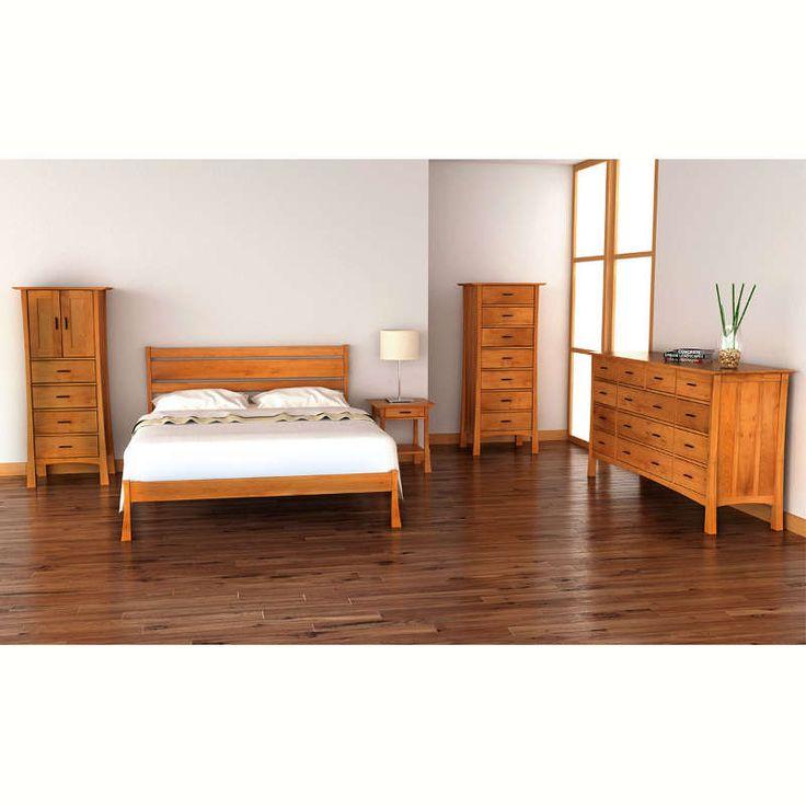 Contemporary Craftsman Platform Bed Vermont Woods Studio $1538