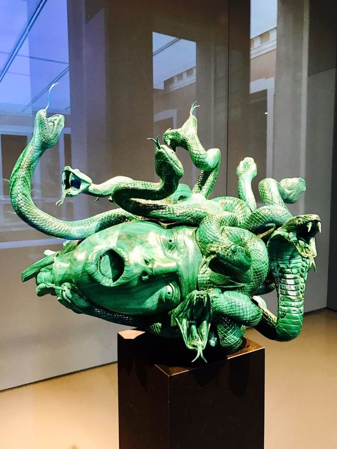 The Severed Head of Medusa, Malachite, Damien Hirst