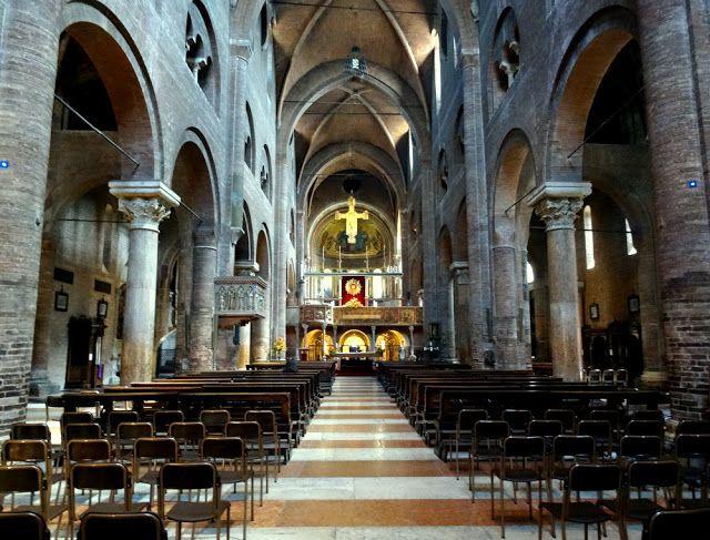 Interior of Modena Cathedral, Modena, Italy
