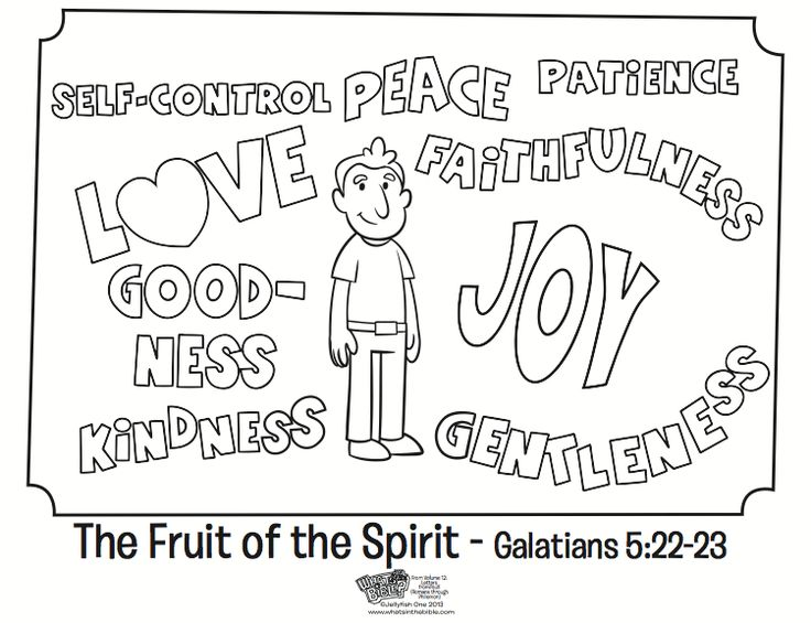 The Fruit Of Spirit Coloring Page