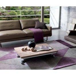 Ozzio Minilong Design Tisch Couchtisch Esstisch zum Aufklappen und Höhenverstellbar Holzplatte Maße 100 x 68 oder 200 x 68 cm