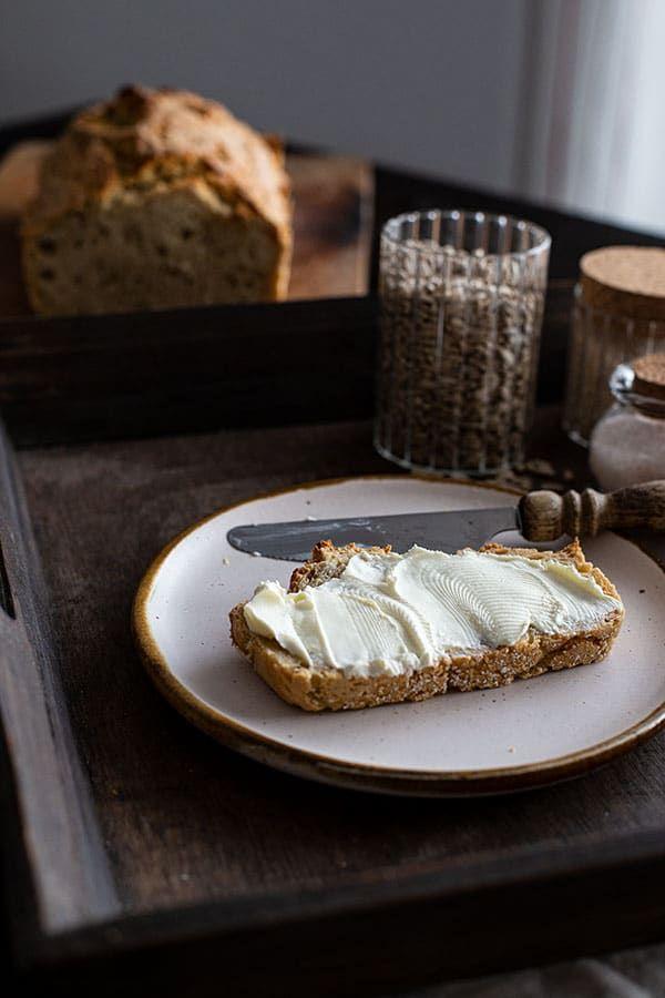 Brot Backen Mit Hafermehl Rezept Lebensmittel Essen Hafermehl Und Brot Backen