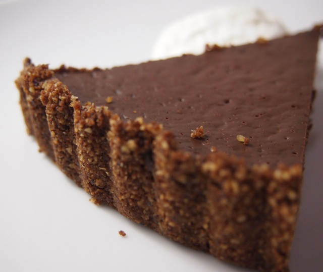 in a gingersnap crust chocolate hazelnut pie with gingersnap crust ...