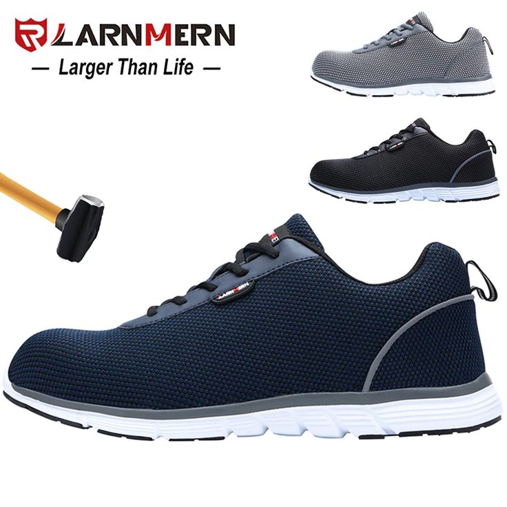 Larnmern Lightweight Breathable Men Safety Shoes Steel Toe Work Shoes For Men Anti Smashing Constru In 2021 Steel Toe Safety Shoes Mens Work Shoes Steel Toe Work Shoes