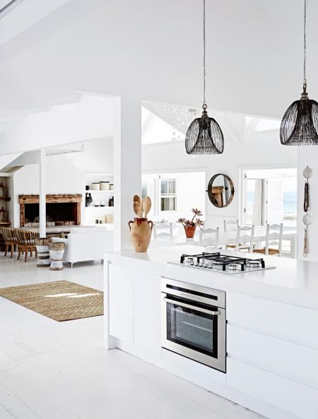 kitchen-living-room-south-african-home-dec15 #southafrica #beachy #interior