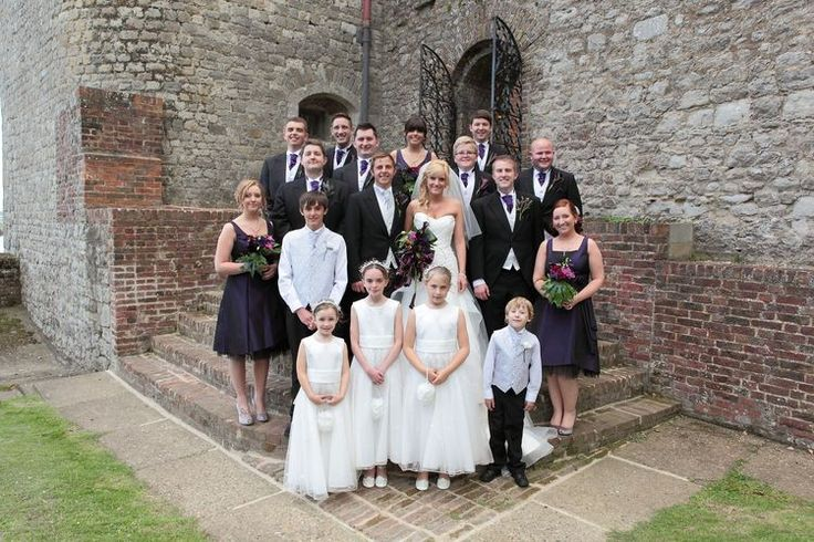Family group wedding image