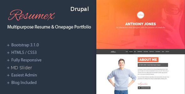 ResumeX - Drupal multipurpose & One Page Portfolio