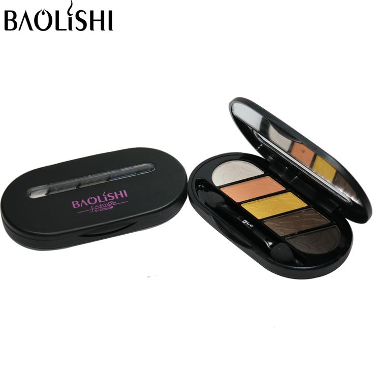 baolishi 5 colors best eyeshadow for brown eyes professional urban naked glitter shimmer eye shadow brand makeup cosmetics