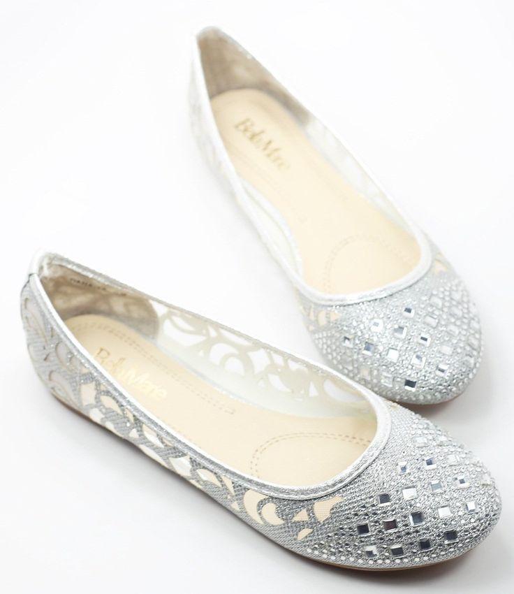 Amazon.com: Walstar Women Casual Rhinestone Glitter Mesh Slip On Ballet Flat Lightweigh: Shoes