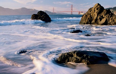 China Beach, San Francisco. Our favorite beach. Secluded and softest sand of all the area beaches. Took family pictures here in 2005.