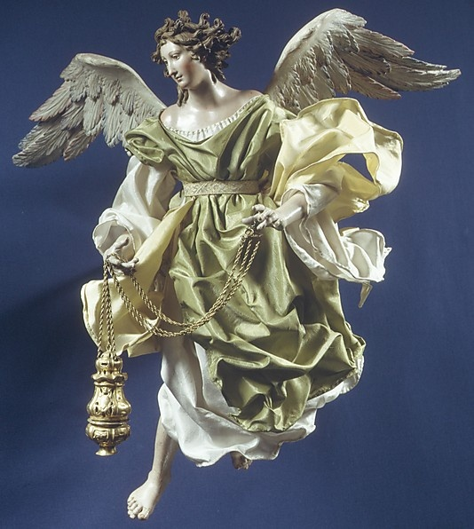 Neapolitan Baroque Angel  Salvatore Di Franco, 18th c.  16 3/4''h. MMA|NYC