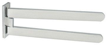 """Materia 6006 Turning Towel Bar in Shiny Aluminium 12.2"""" - contemporary - towel bars and hooks - Modo Bath"""