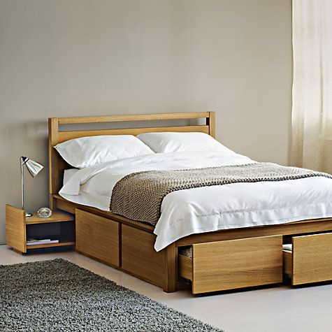Buy john lewis sullivan oak storage bed headboard for John lewis bedroom ideas