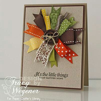 Ribbon bow embelishment instead of flowers. Brilliant idea!