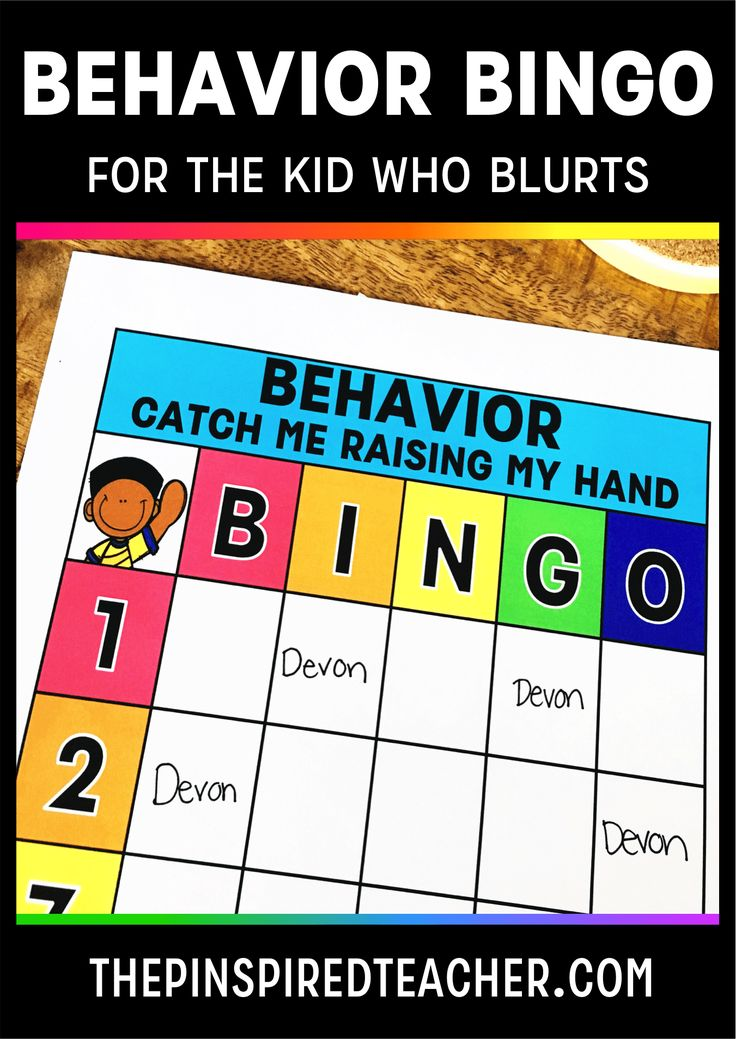 Behavior Bingo for The Kid Who Blurts Classroom management strategy by The Pinspired Teacher | Blurt Alert | Behavior Management | Blurting Out in Class | Interrupting Chicken