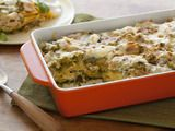 Roast Chicken Enchilada Suizas Stacked Casserole Recipe - easy peasy even with the homemade tomatillo sauce