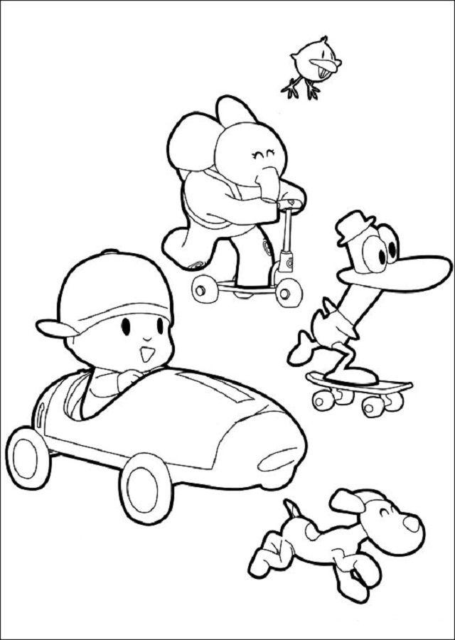 dibujo para pintar pocoyo y sus amigos  pocoyo páginas