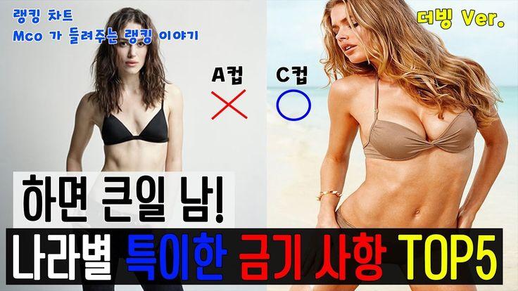 [랭킹 차트] 특이한 금기사항을 가진 나라들! TOP5 (더빙 Ver.)