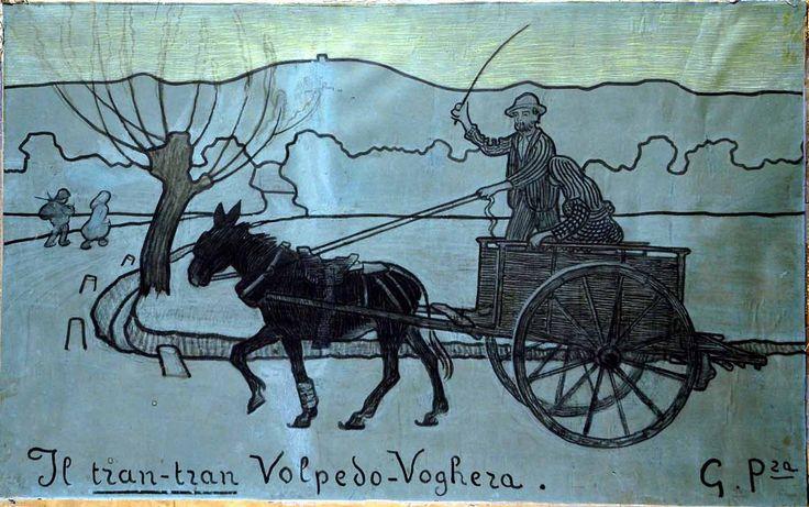 Pellizza da Volpedo, IL TRAN TRAN, 1903, gessi inchiostro e pastelli su carta grigio-verdastra, cm. 96x154,5, collezione privata