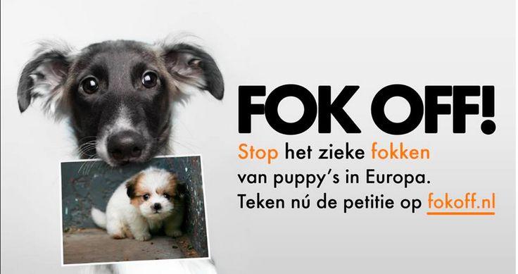Actie voor World Animal Protection tegen illegaal fokken.