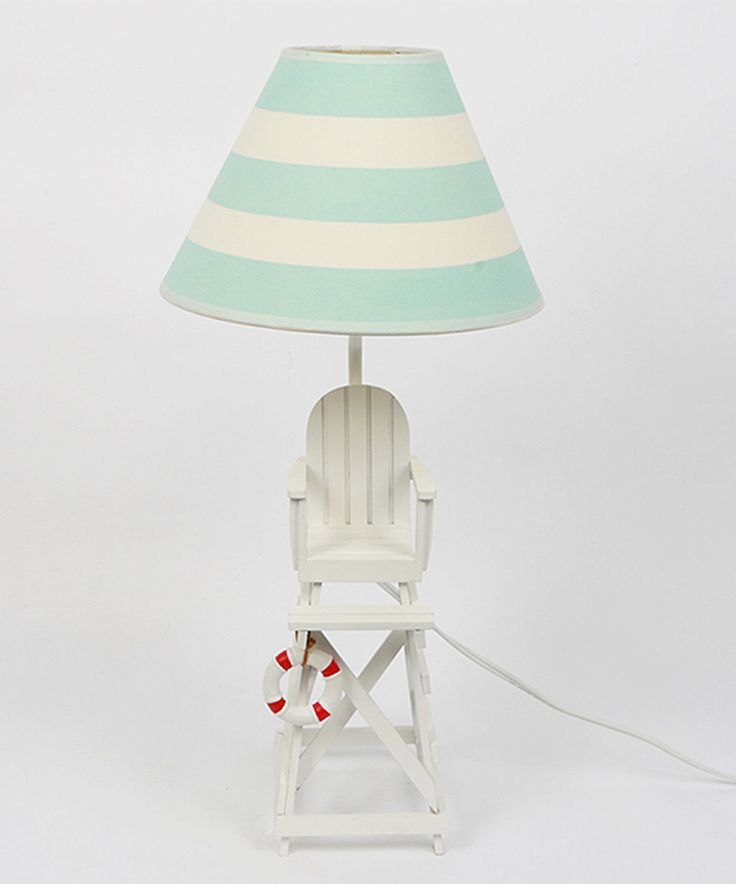 lifeguard chair table lamp dei zulily lifeguard chair inspired lamp. Black Bedroom Furniture Sets. Home Design Ideas