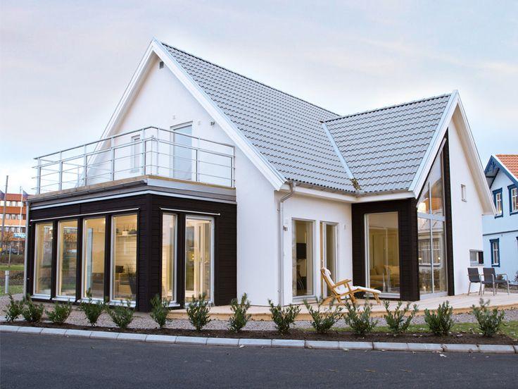 Kornett en storsäljare som kännetecknas av ljus och rymd. I den öppna delen av huset går taket till nock.