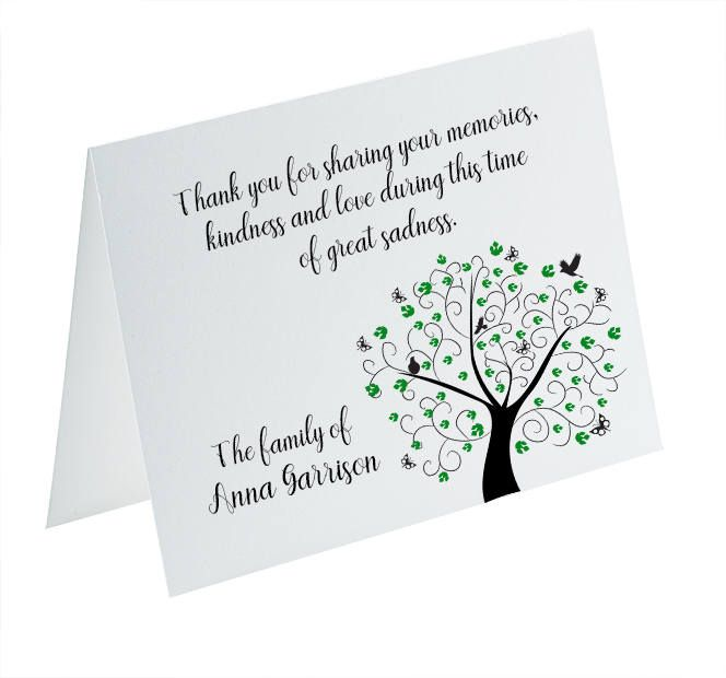Sympathy Acknowledgement Cards Funeral Thank You and Bereavement Notes Personalized