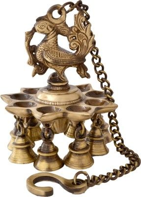 Handecor Peacock Deepak With Bells and Chain Brass Hanging Diya Price in India - Buy Handecor Peacock Deepak With Bells and Chain Brass Hanging Diya online at Flipkart.com