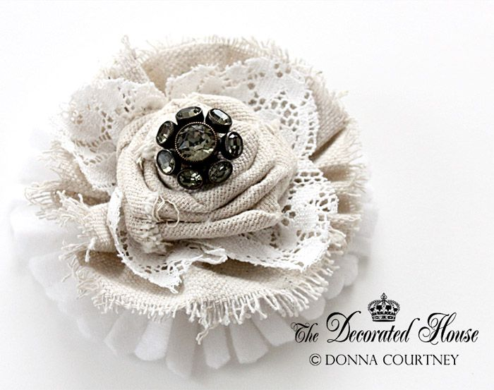How to Make a Fabric Flower. DIY Tutorial continued, from The Decorated House Blog