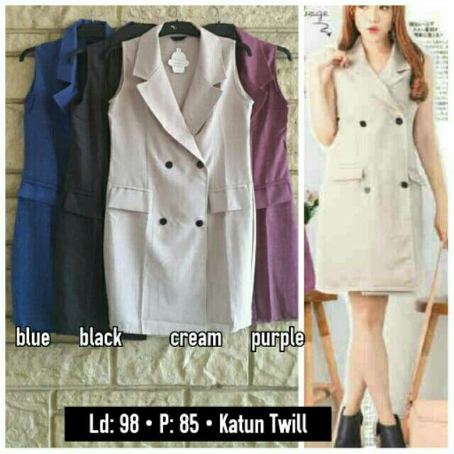 Saya menjual Coat vest emma seharga Rp90.000. Dapatkan produk ini hanya di Shopee! {{product_link}} #ShopeeID