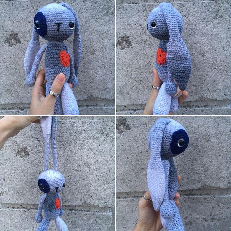 Háčkovaný zajačik  #crochet #bunnylove #crochettoy