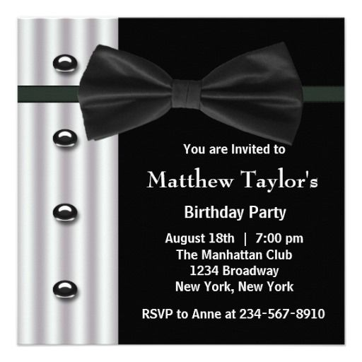 20 best Black And White Party Invitations images on Pinterest