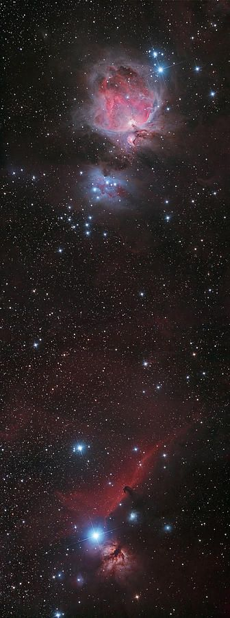 Mosaic Of Orion Nebula And Horsehead