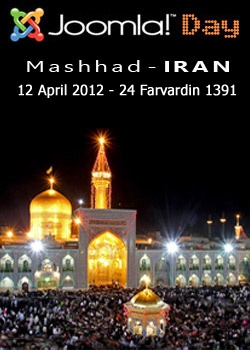 Joomla Day Iran will be held on April 12, 2012 in Mashhad. This is a ideal opportunity for the Persian Joomla community to come together & meet some of the Joomla experts and Joomla Farsi moderators.